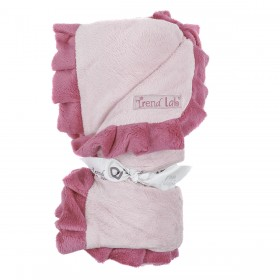 Ruffled Receiving Blanket - Pink & Fuchsia - Trend Lab