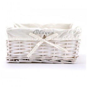 Gender Neutral Baby Gift Basket, White Lining