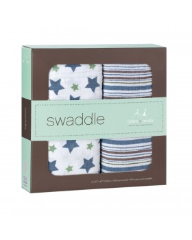Aden + Anais Royal Swaddle Blanket - Prince Charming - 2 Pack