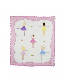 Le Ballet - Hand Stitched Cotton Stroller Blanket - Artwalk