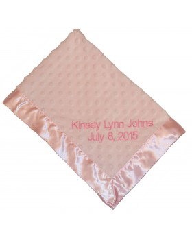 Dottie Personalized Snuggle Blanket, Pink - Bearington