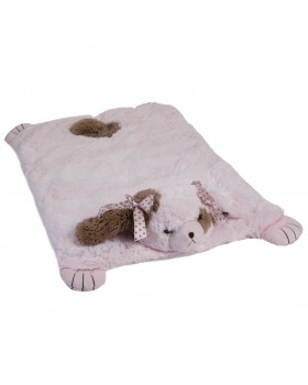 Wiggles Pink Dog Belly Blanket for Girls - Bearington