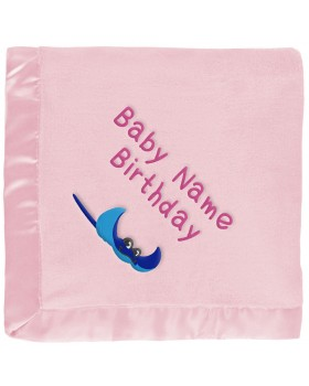 Personalized Baby Blanket - Stingray, Pink