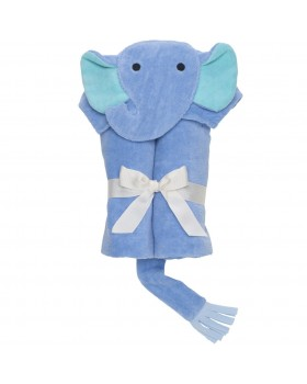 Blue Elephant Bath Wrap / Hooded Towel - Elegant Baby