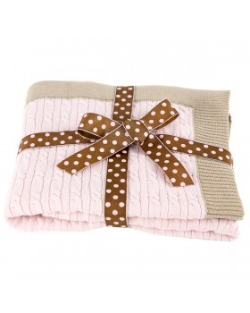 Cotton Blanket With Ribbed Edges, A Soft Idea