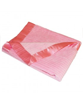 Ribbed Baby Blanket - Light Pink - Elegant Baby