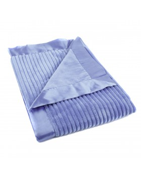 Ribbed Blanket - Bright Blue - Elegant Baby