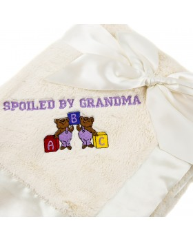 Bearington Silky Soft Personalized Crib Blanket - Cream