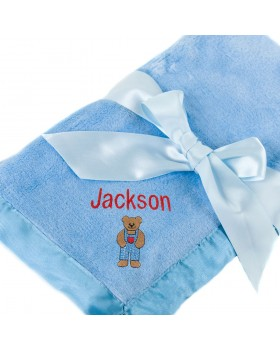 Light Blue Silky Baby Blanket - Tadpoles