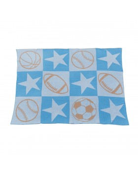 Sports Star Knit Blanket - Elegant Baby