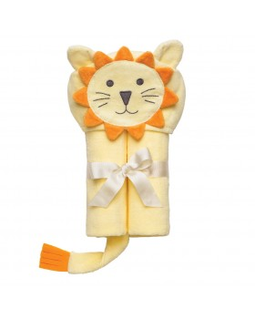 Yellow Lion Bath Wrap / Hooded Towel - Elegant Baby