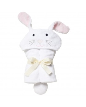 White Bunny Bath Wrap / Hooded Towel - Elegant Baby