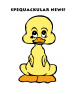 Spequackular Duck Baby Greeting Card