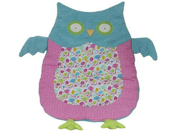 Pink Amp Blue Owl Nap Mat Girl S Belly Blanket Maison Chic